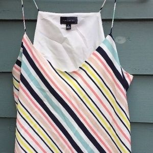 Limited M striped tank top lined loose flowy top
